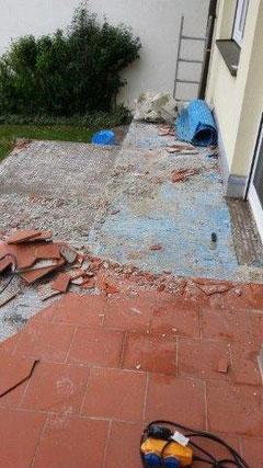 Terrassenschaden durch falsche Verlegung