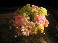 披露宴のお花をいただきました!!