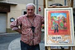 JF Savornin devant son atelier à Lourmarin