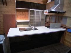 ミカド 対面キッチン 食器戸棚付