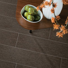 Dark walnut porcelain tiles for floors