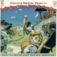 La cover dell'artista Americano William Stout disegnata per Firesign Theatre Predicts che raffigura la cicala in battuta