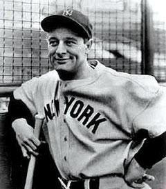 Nella foto Lou Gehrig
