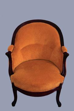 fauteuil bergère de style empire, tissu velours
