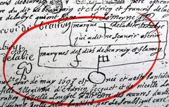 Signatures de serruriers - Acte de mariage de 1693 enregistré à Friville-Escarbotin près de la baie de Somme-