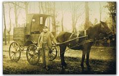 Otto Thiele mit Pferd und Wagen