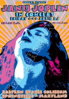 janis joplin,woodstock,joplin concert,joplin poster,affiche,psychedelic,female music,rose,janis portrait,new haven,san francisco,austin,joe cocker,cambridge
