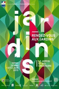 affiche officielle des Rendez-vous aux Jardins 2013