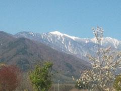 中央高速より木曽駒が岳