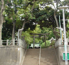 白幡八幡神社の鳥居