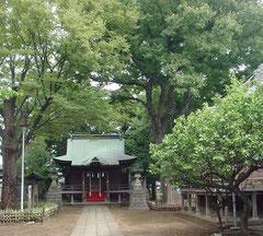 白幡八幡神社の拝殿