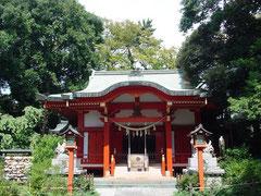 自由が丘熊野神社の拝殿