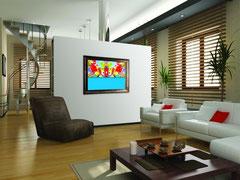 Телевизор маскируется картиной в роскошной раме