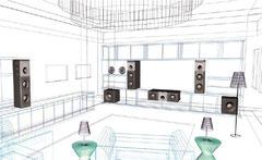 Домашний кинозал ПРЕСТИЖ-класса на оборудовании B&W (Англия)