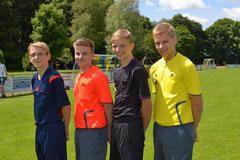 Insgesamt sammelten sieben ungelernte Schiedsrichter Erfahrungen als Spielleiter