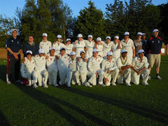 Swiss U14 and Thriplow U14 team