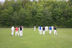 Swiss national team fielding practice