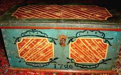 refabrication des charnières d'un coffre autrichien 18eme