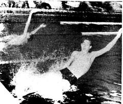 Rückenschwimmen 1967 in Datteln