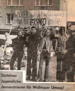 Demo gegen Franco 1975 in Datteln