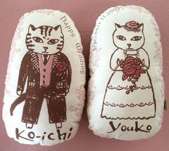 猫夫婦のウエルカムドール