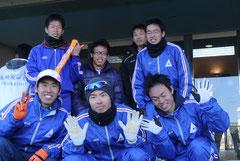 対校男子の6名と中雄先生