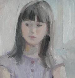 少女 8号 油彩(描画中部分)
