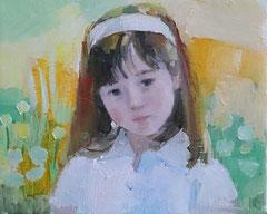春の庭にて (描画中)3号油彩
