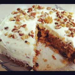 © Winifred. I baked this delicious carrot cake for the first time yesterday and it turned out great. Made me feel happy for many hours.