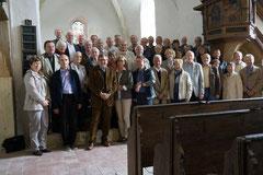Die Teilnehmer an Kirchfahrt und Mitgliederversammlung