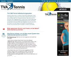 Online Buchungssystem TVA Tennis