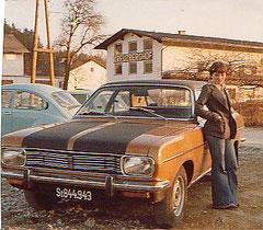 meine erste frau charlotte + chrysler,mit der frau sehr zufrieden, mit dem auto gar nicht..                            1979