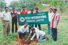 Tree planting with OISCA members