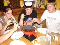 CHS students enjoy chocolate fondue in Interlaken, Switzerland