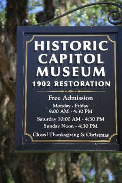 Schild Historic Capitol Museum