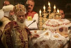 Pape Chenouda à la messe