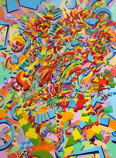Memory 2009 Acryl auf Leinwand  88 x 120 cm