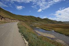 Malerische Landschaft - fieser 80 km Aufstieg.