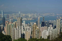 """Radlerparadies"" Hong Kong von oben."