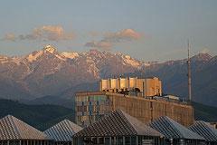 Aussicht aus unserem Apartment in Almaty.