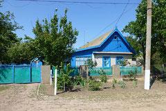 Typisches ukrainisches Haus.