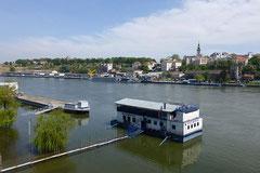 Belgrad - hier herrscht noch Hochwasser.