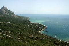 Küstenstreifen zwischen Sevastopol und Yalta.