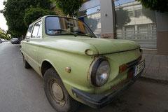 Symbolisch für den rostigen Dacia-Kübel.