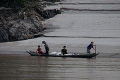 Unterwegs auf dem Mekong.