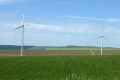 Eine der grössten EU-Windkraftanlagen.