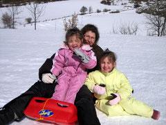 Avec ma mère et ma soeur