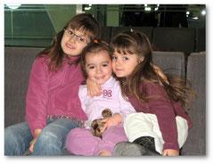 Avec Célia et Fanny