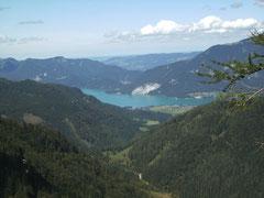 Blick von der Postalm zum Wolfgangsee