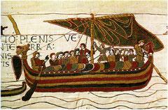 Teppich von Bayeux, normannisches Schiff